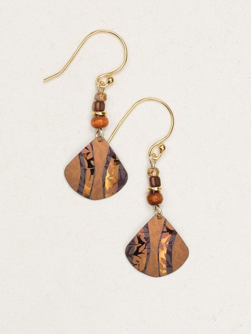 14953 Amber Wave Painterly Earrings
