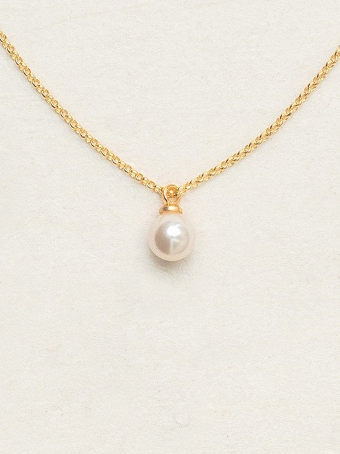 60281 White/Gold Julianna Pearl Necklace