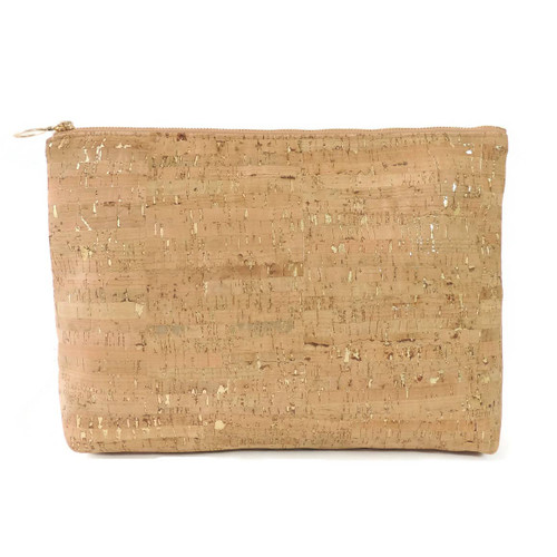 CA513 Carryall Clutch- Cork Dash Gold