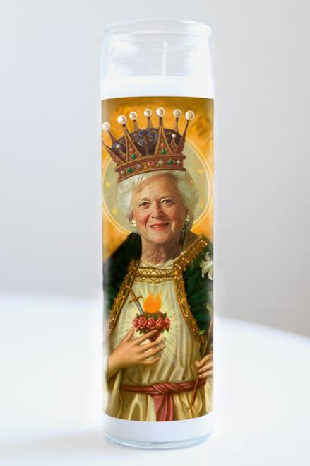 Barbara Bush Celebrity Prayer Candle
