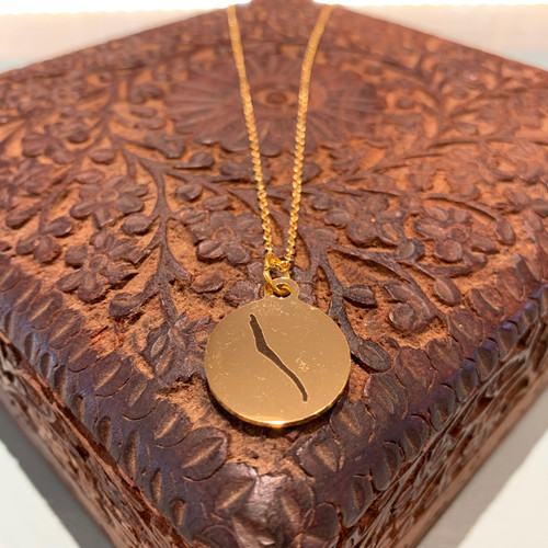 Skaneateles Lake Necklace- Gold Plate