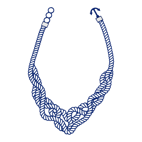 Marina necklace, blue