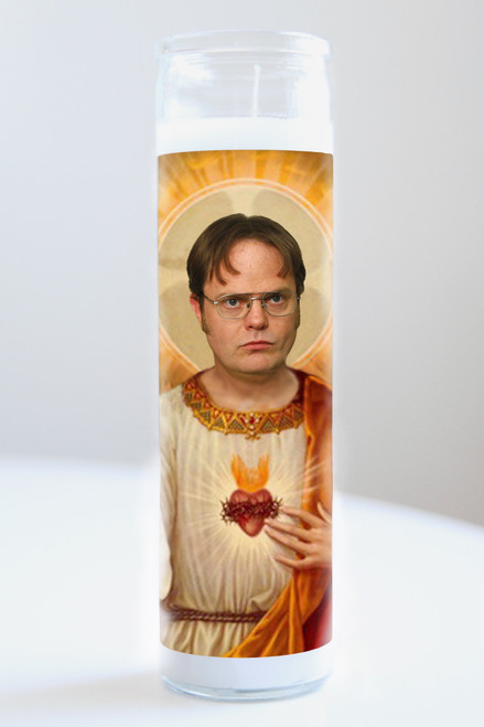 Dwight Schrute Celebrity Prayer Candle