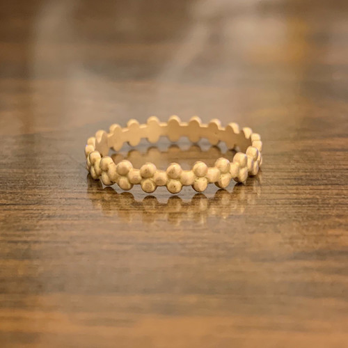 236CWE109G Plain Dot Stack Ring