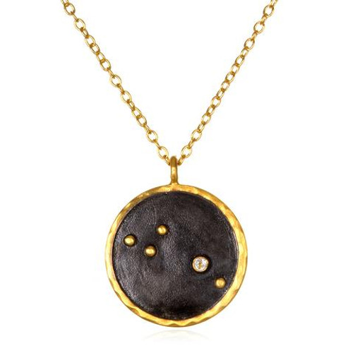 Aries Zodiac Necklace- Large