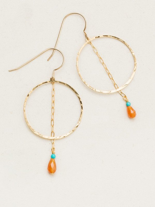 10466 Gold/Wildwood Avita Hoop Earrings
