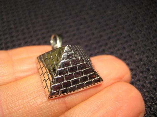 925 Silver Egyptian Pyramid Pentagram Pendant Necklace
