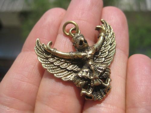 Garuda Bird God figure pendant snake bite amulet Thailand A15