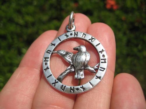 Image 1 Silver Viking Raven Pendant