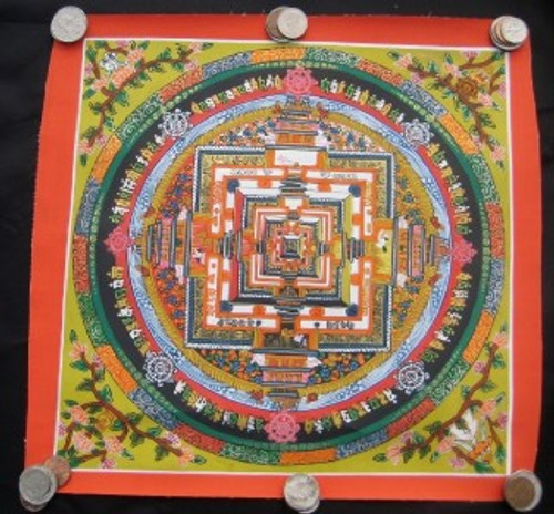 Image 1 Mixed Gold Kalachakra Thangka Thanka Painting Nepal art