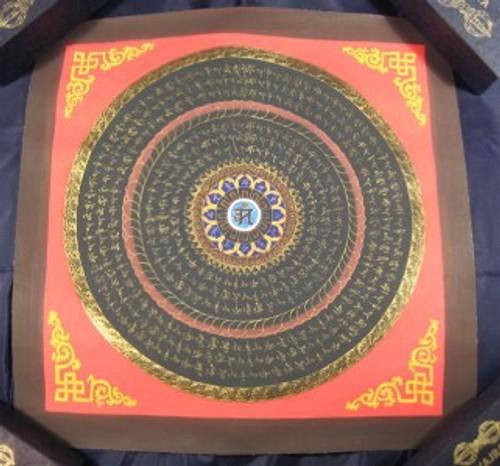 Image 1 Blue Ohm Mandlala Thangka Thanka Painting Nepal