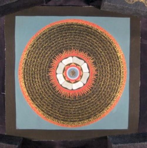 Mixed Gold Ohm Mandala Thangka Thanka Tanka painting Nepal Himalayan Art A3