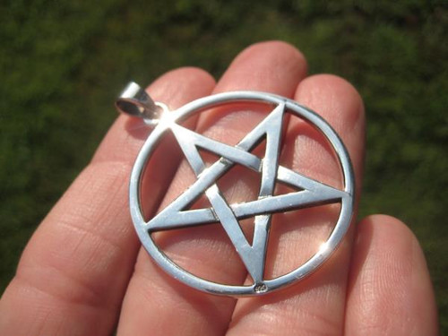 Photo Large Silver Pentagram back view