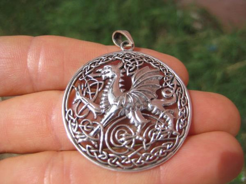 Photo Dragon Silver Pendant 1