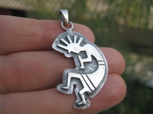 Photo 1 Kokopelli Silver Pendant