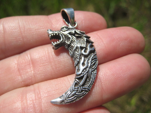 Front Photo 1 Viking Wolf Pendant
