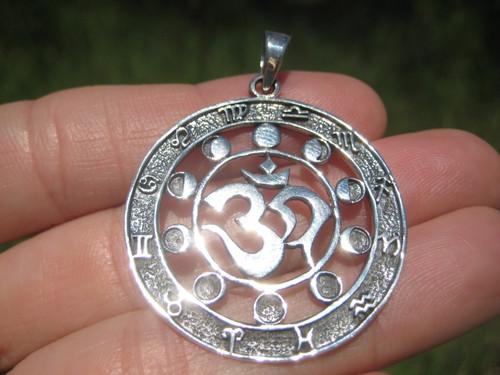 Image 1 925  Ohm Zodiac Pendant Necklace Lunar Calendar
