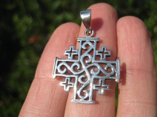 Image 3 Crusaders Cross Silver Pendant