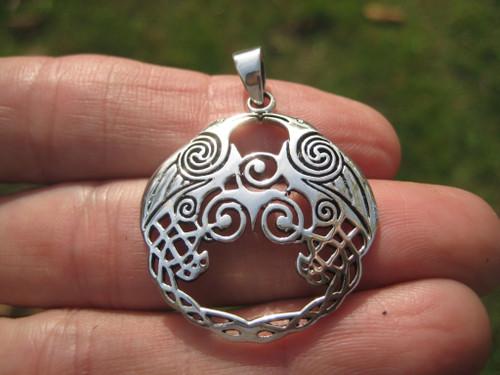 Image 1 Silver Raven Viking Pendant