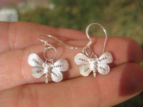 925 silver butterfly earring earrings northern Thailand