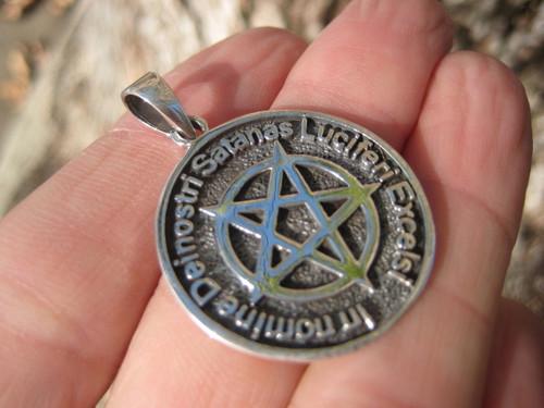 Image 1 Silver Satanic Pentagram Pendant