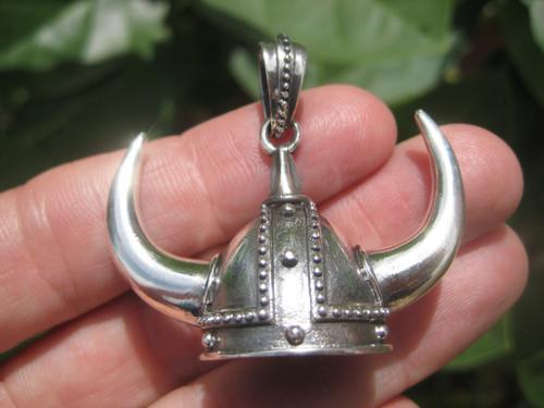 Silver Viking Helmet Image 1