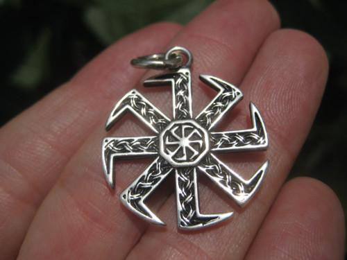 Image 1 Black Sun Sonnenrad Viking 925 Silver Pendant