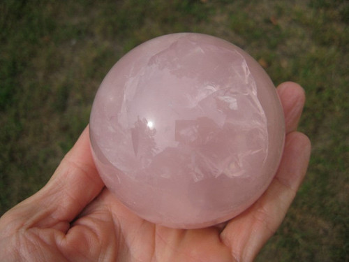 Large Rose Quartz Crystal Ball stone art mineral carving A14