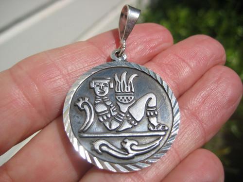 925 Silver Mayan God Image 1