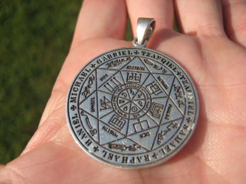 Silver Solomon Temple Pendant Image 1