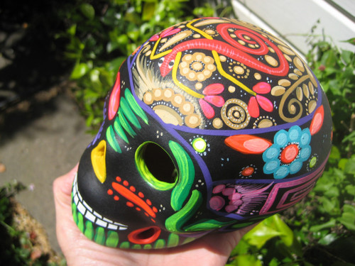 Ceramic Painted Skull Day of the Dead Taxco Mexico A9273