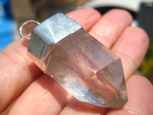 .925 Silver quartz Pendant, Taxco, Mexico A9478