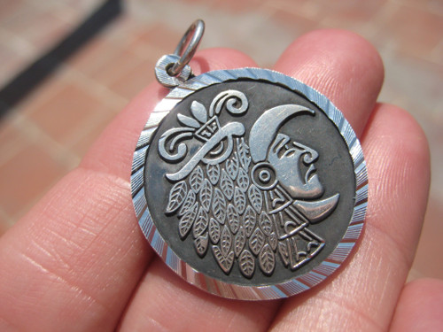950 Silver Maya Pendant A165