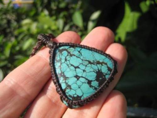 Image Hand Woven Yurquoise Pendant