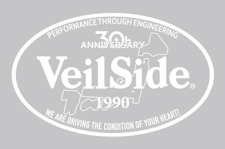 ST013-01 VeilSide 30th Anniversary Oval sticker White