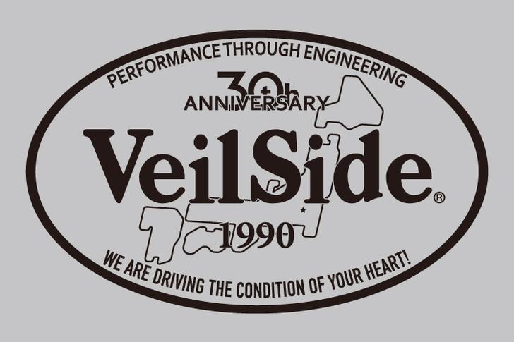ST013-05 VeilSide 30th Anniversary Oval sticker Black