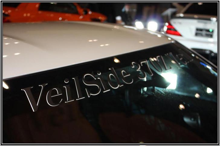 VeilSide 370Z Ver.1 Front Window Windshield Sticker Black/ White Authentic Original
