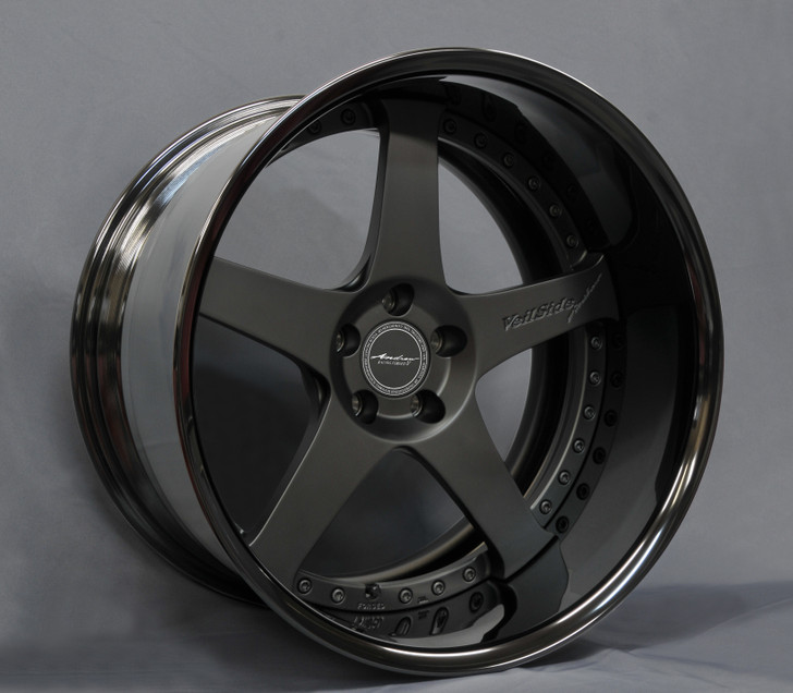 VeilSide Fortune RX7 ANDREW Evolution V Fast Furious Forged Wheels Set in Matte Black