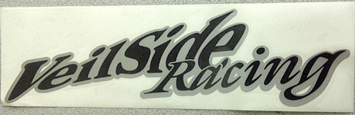 ST024-05 VeilSide Racing Sticker Black Limited Edition 2 Tone Black with Silver Back Ground Vinyl Authentic Original Japan