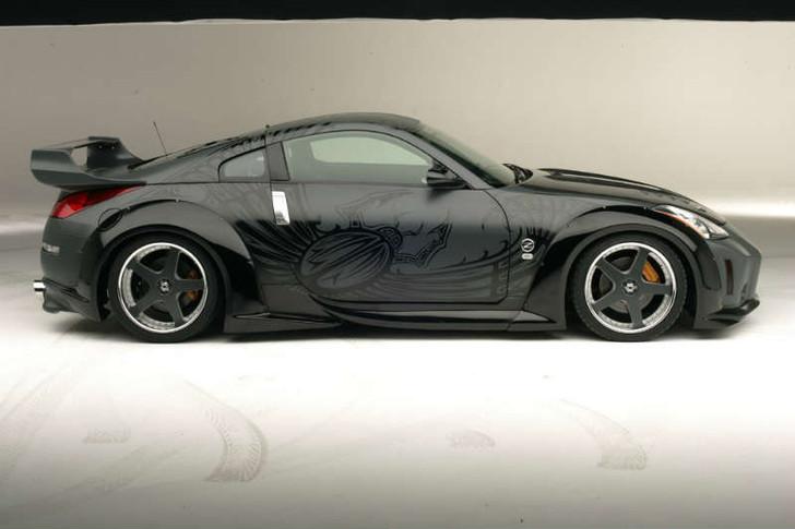 """VeilSide 350Z ANDREW Evolution V Fast Furious III Tokyo Drift """"DK"""" Matte Black Forged Wheel"""