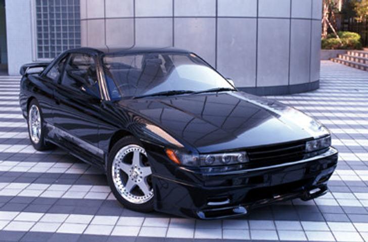 AE027-01 VeilSide 1989-1994 Nissan S13 JDM Silvia SIL80 E-I Front Half Spoiler side skirts rear wing lip hood Coupe hb zenki kouki chuki sr20det