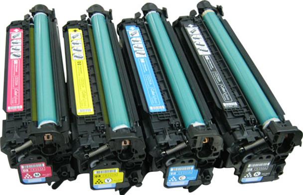 Premium HP CE250X, CE251A, CE252A, CE253A Compatible Toner Cartridges