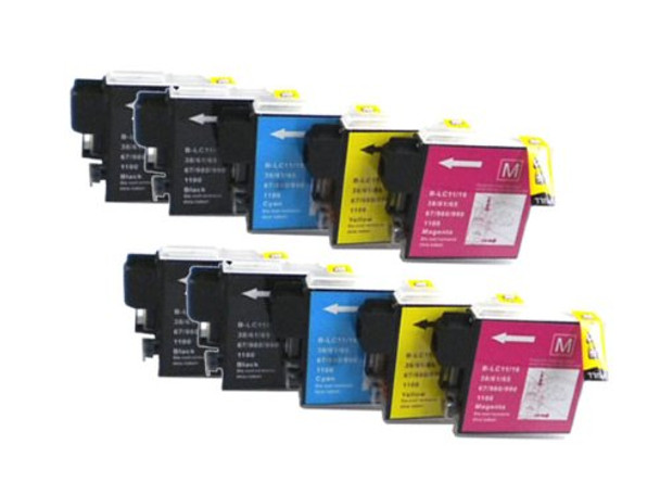 Premium Brother LC61 Compatible Ink Cartridge (10-Pack)