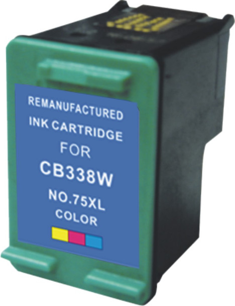 Premium HP CB337WN (HP 75) Compatible Color Ink Cartridge