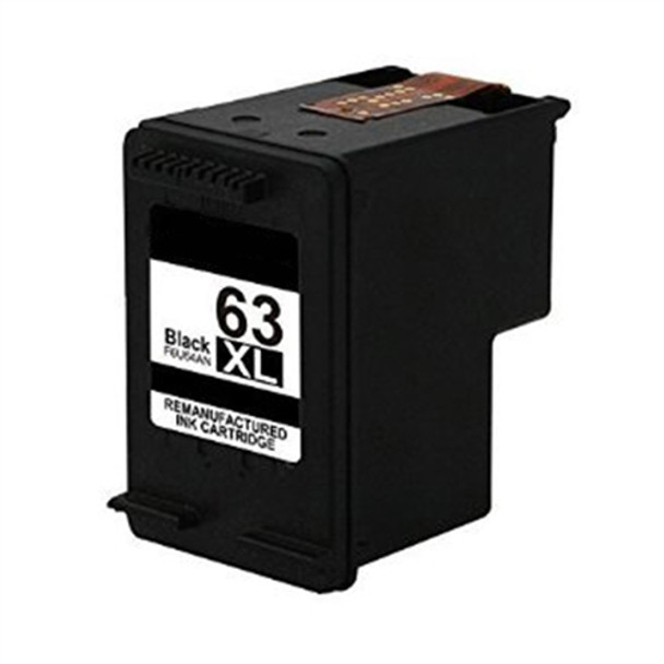 Remanufactured  HP 63XL (F6U64AN) High Yield Black Ink Cartridge