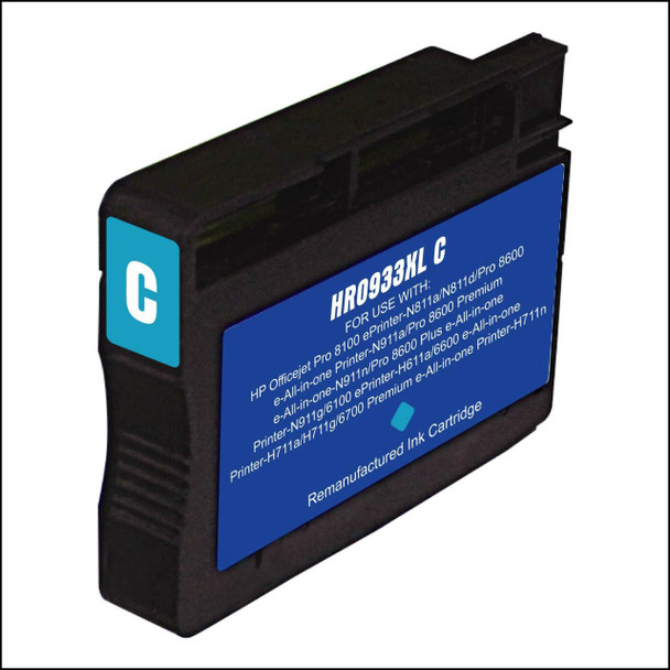 Premium HP CN053AN (933XL) Compatible Cyan Ink Cartridge