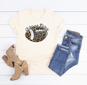 Game Day Vibes Leopard Crew Neck Tee