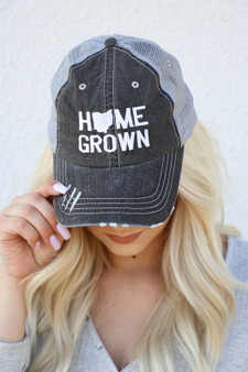 Home Grown - Ohio Embroidered Trucker Hat