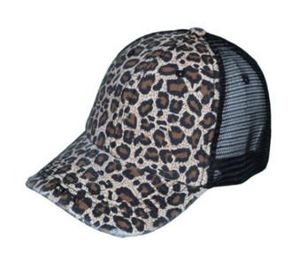 Black Mesh Back Leopard