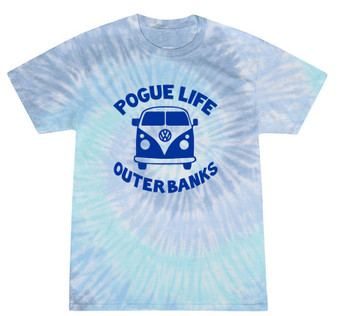 Pogue Life Outer Banks Blue Tie Dye Crew Neck Tee